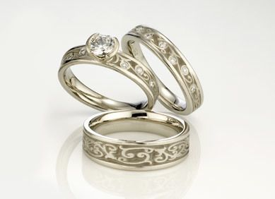 Unique Custom Wedding Rings Unusual For Women Matching His And Hers