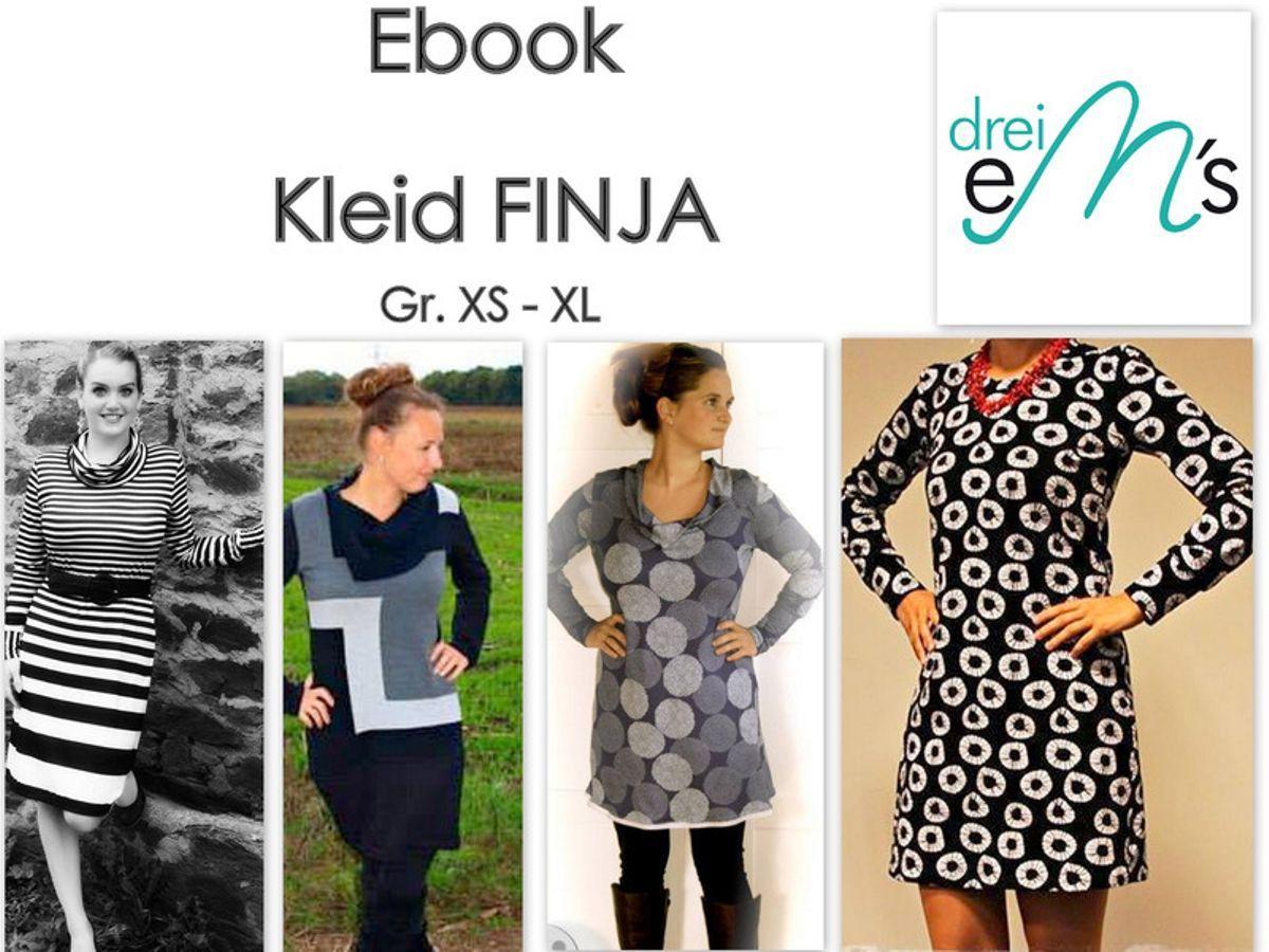 Kleid Finja   Schnittmuster kleid, Damenkleider und Schnittmuster