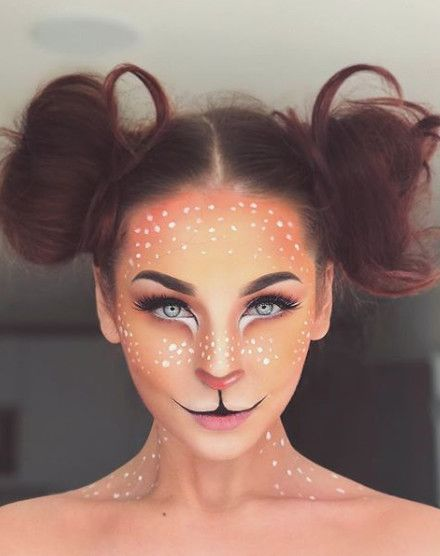 12 deer makeup Halloween ideas