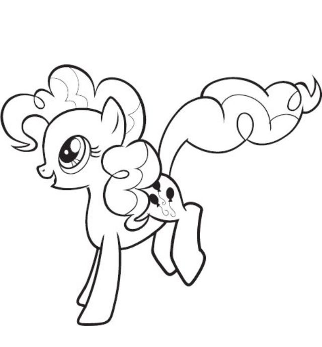 Pinkie Pie Coloring Page Coloring Pages My Little Pony Little Pony