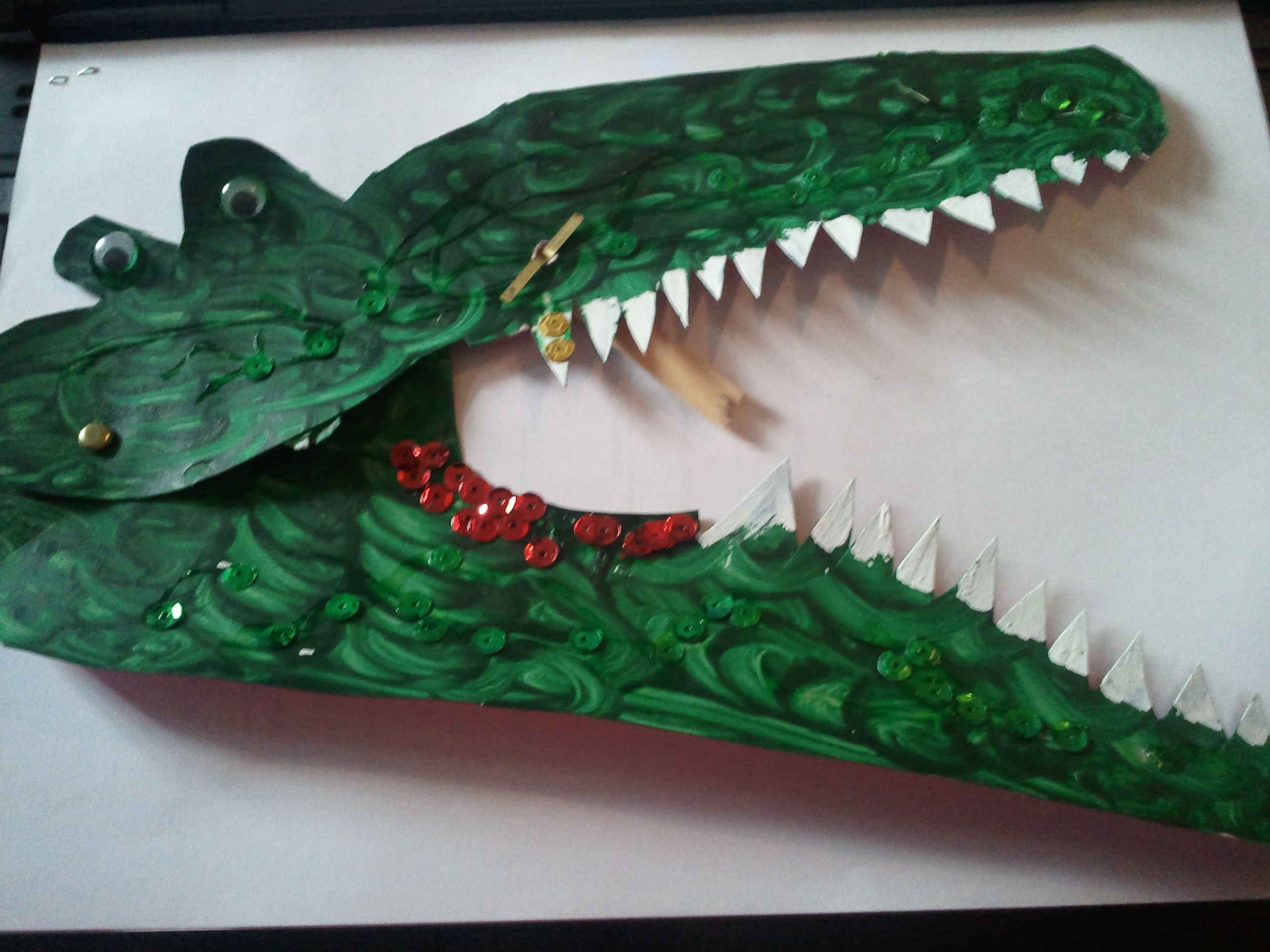 Story Prop From The Selfish Crocodile Made From Card