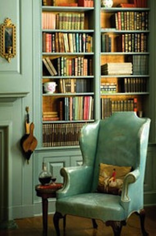 Cozy Library Home Decor Interior