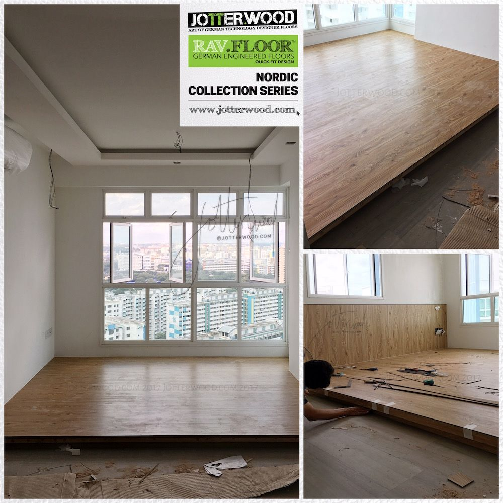 Living Hall Maple Wood Platform Jotterwood Vinyl Flooring