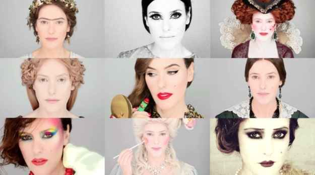 Watch How Dramatically Makeup Trends Have Changed Throughout History Makeup History Bad Makeup Makeup