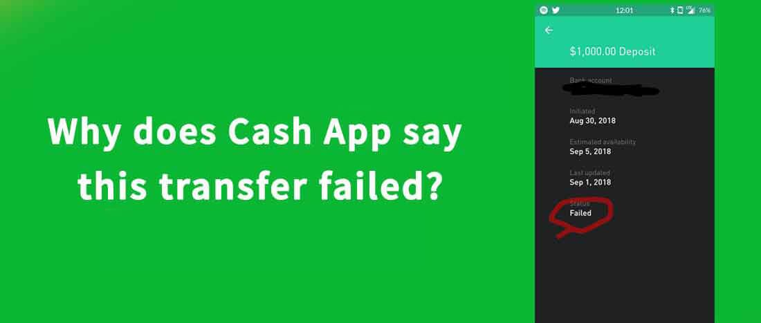 Cash App Transfer Failed Complete Guide To Fix This Issue App Fails Cash