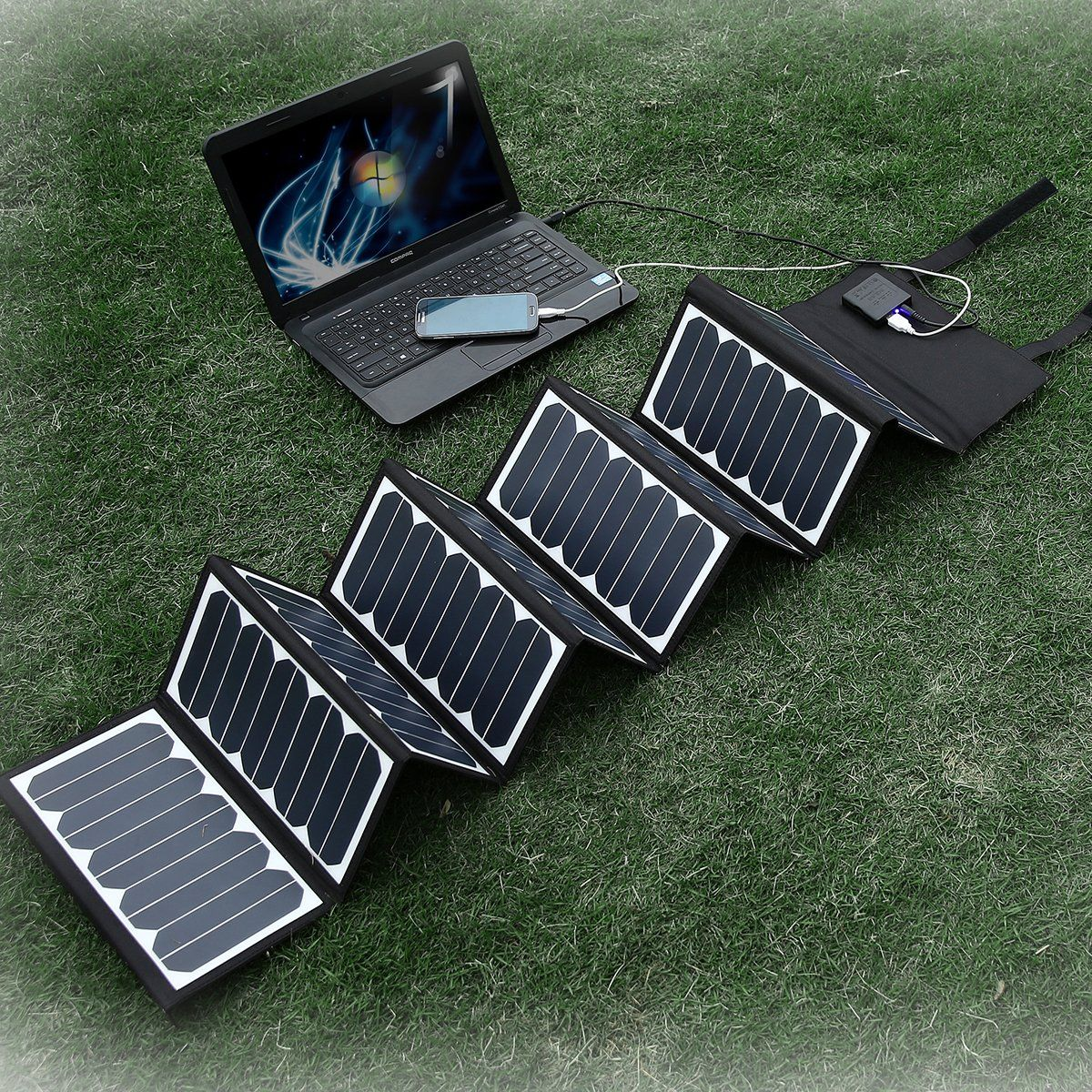 New Release Poweradd Amp Trade High Efficient 60w Foldable Solar Panel Portable Solar Charger Usb Port 18v Solar Panel Charger Solar Panels Solar Charger