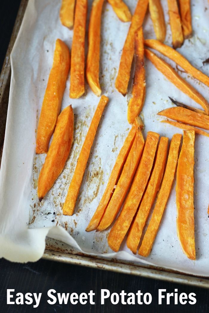 Sweet Potato Fries | Good Cheap Eats - This recipe comes together in just minutes but is so yummy and good for you! http://goodcheapeats.com/2016/04/sweet-potato-fries/