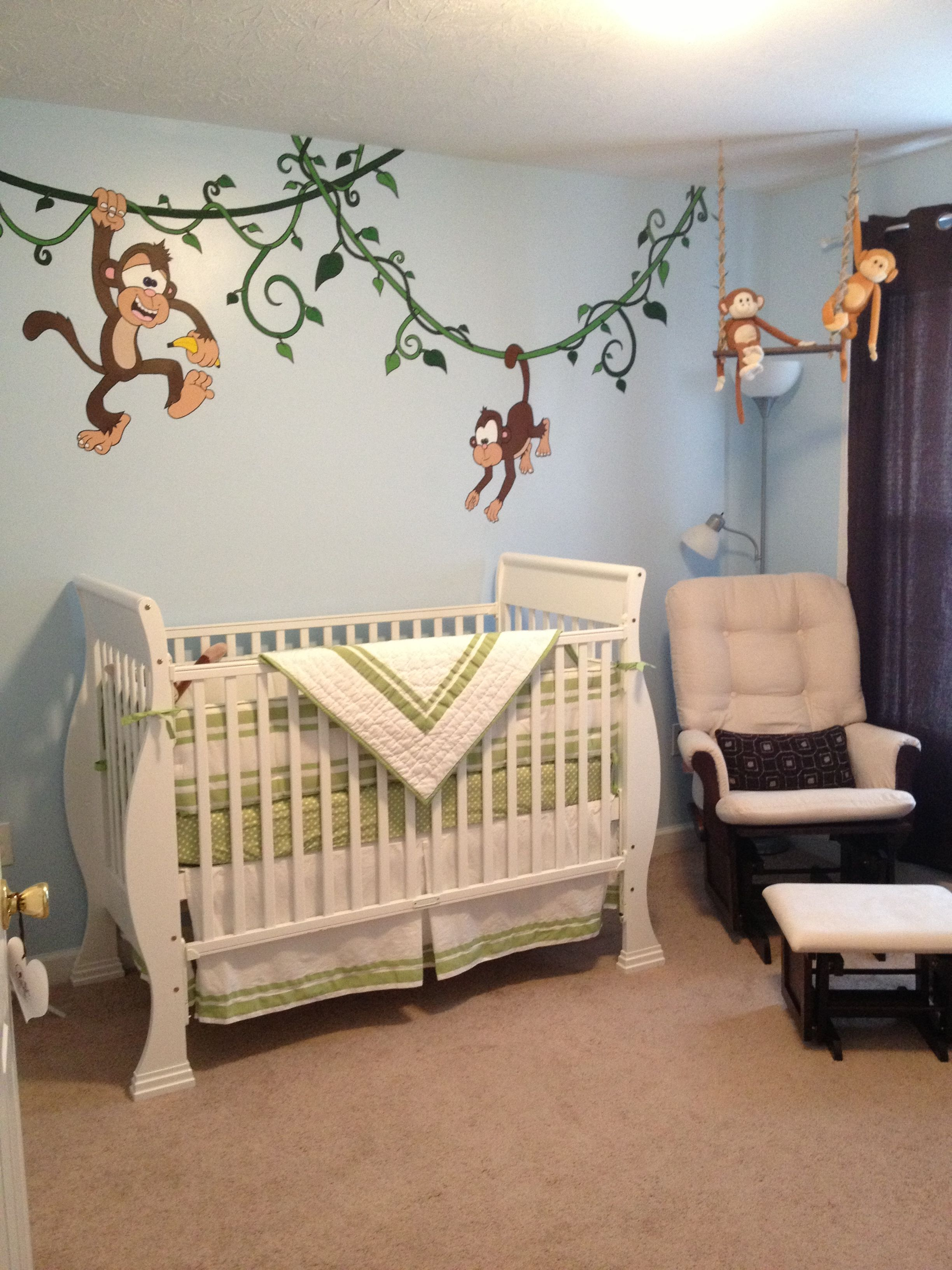 Our Finished Nursery Our Little Man Is Gonna Love It Monkey
