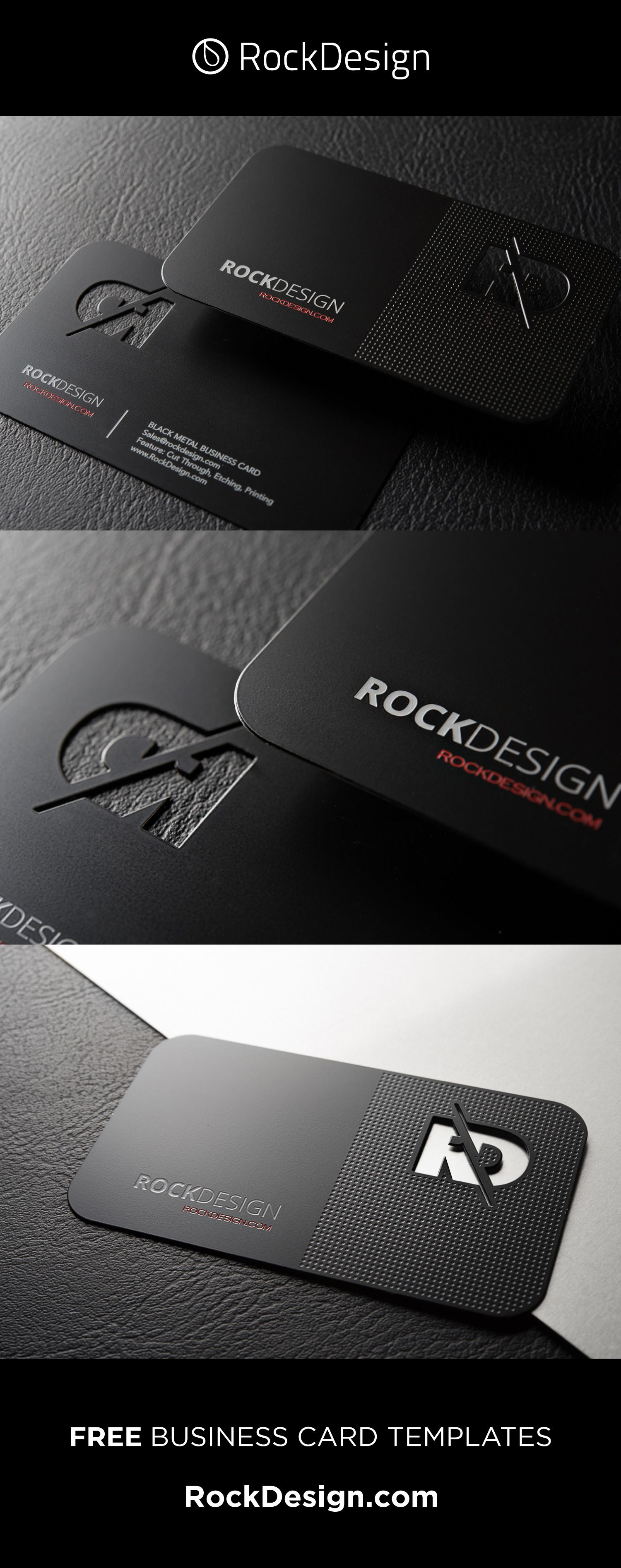Professional Black Metal Business Card Template Rd Business Card Design Creative Metal Business Cards Graphic Design Business Card