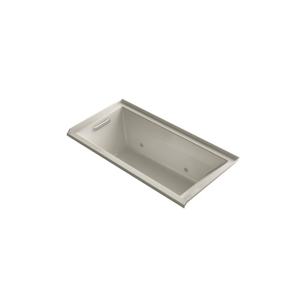 KOHLER Underscore 5 ft. Acrylic Rectangular Drop-in Whirlpool ...