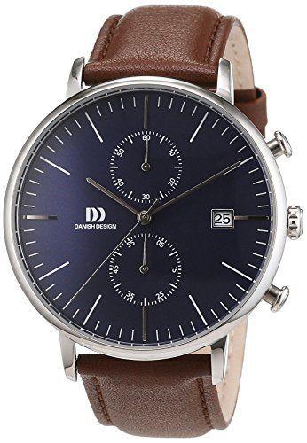 Danish Design Men's Wrist Watch Analog Quartz Leather