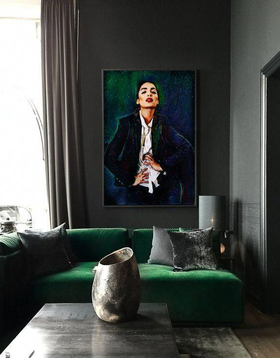 Modern Wall Art - Strike A Pose - 30x44 Framed Abstract Painting, Limited Edition.