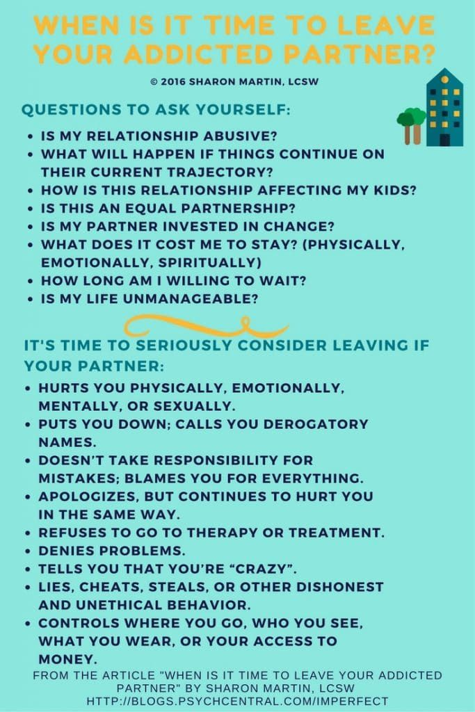 Leaving a codependent relationship