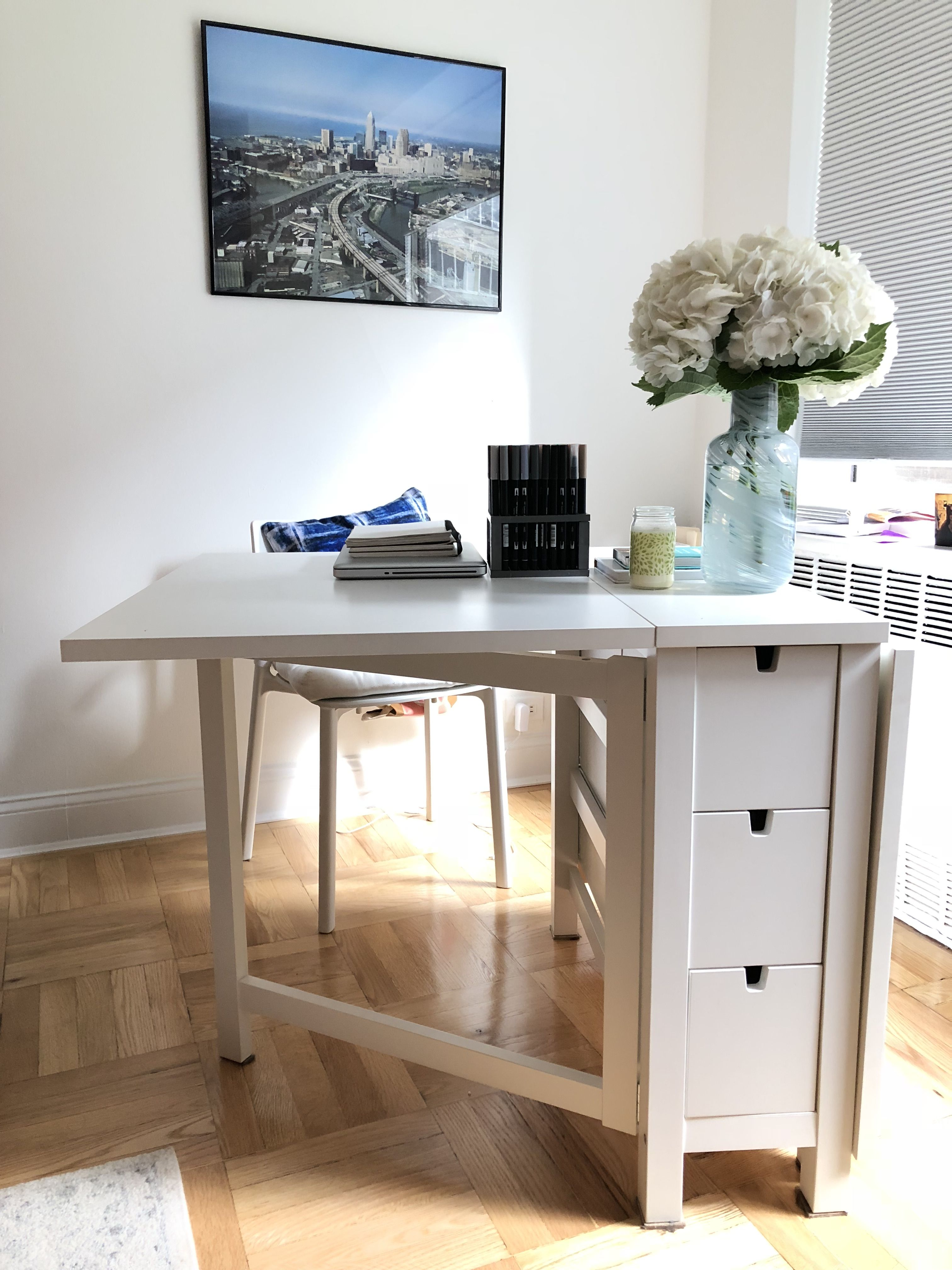 These 7 Things Made My New Apartment Feel So Much Bigger Ikea Dining Table Apartments Small Spaces