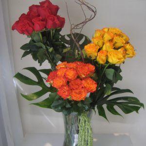 Cilindro Combinado Rosa Flores Regias Flores Rosas Arreglos Florales