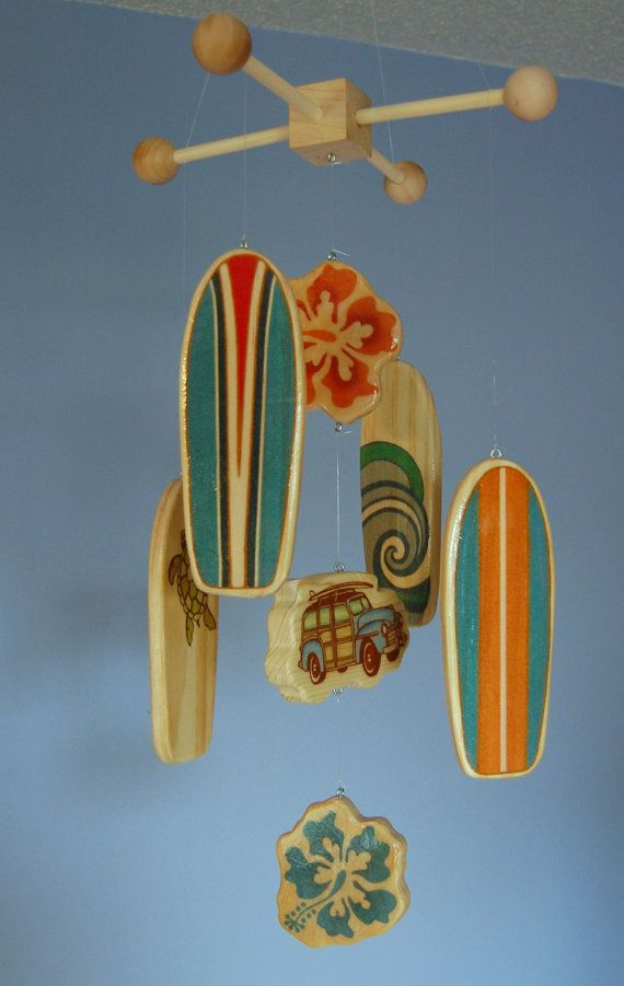 Baby Crib Mobile  Baby Mobile  Surf or Beach Baby von FlyingTrees, $75.00