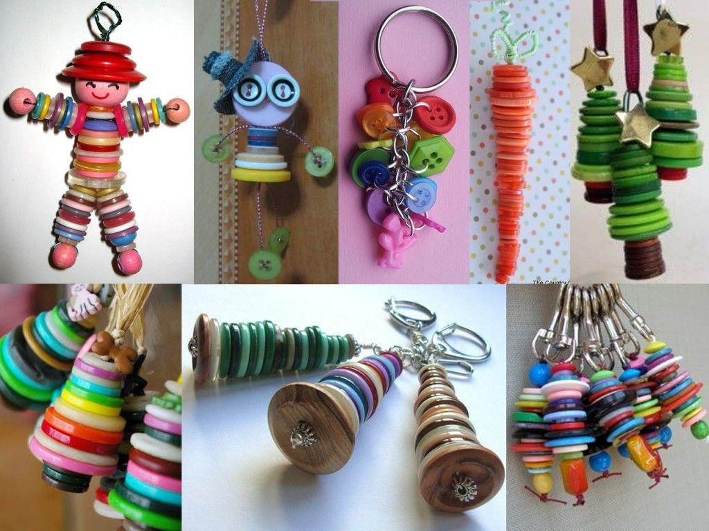 M s de 150 manualidades con botones de colores craft - Manualidades de botones ...