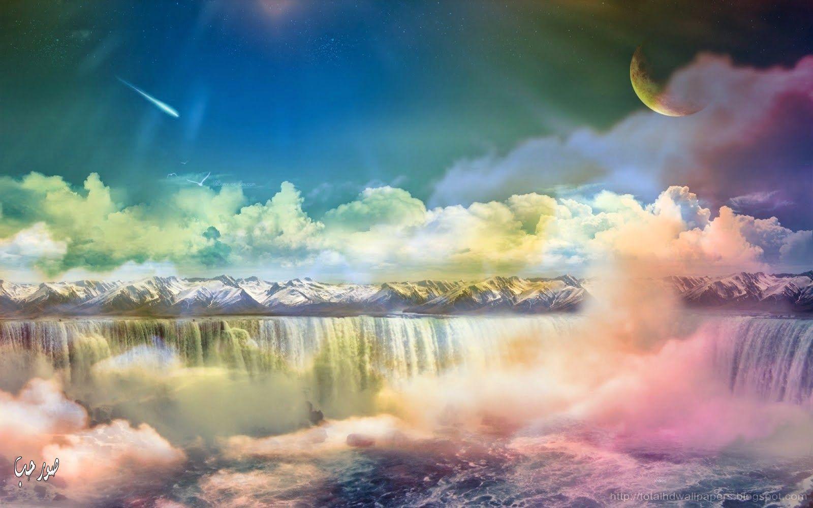 Colourful Fantasy Cloud Backgrounds: صور بورتريهات جميلة مرسومة صور حلوة معبرة 2015