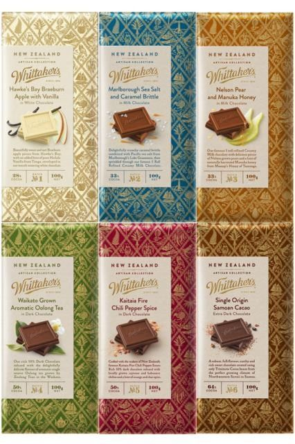 Whittakers New Zealand Artisan Collection Set Of 6x 100g