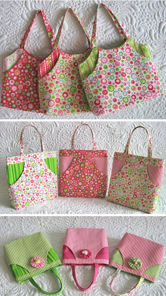 Sewing pretty little things- miniature bags.