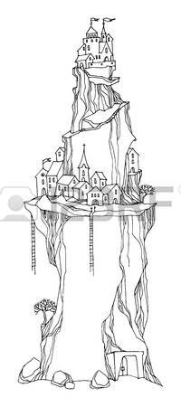 Cartoon Village Fairy Tale Vector Fairy Tales Village Drawing Fairy Village