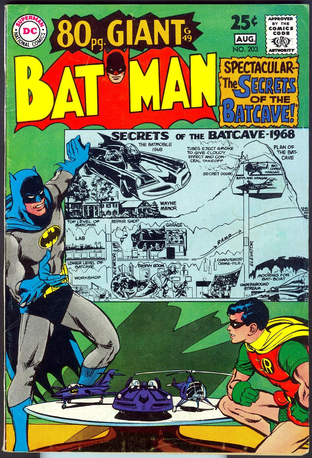 Batman #203 (1968). Cover art: Neal Adams. A collection of some of the top comic book covers featuring BATMAN - album by BATCAVE DWELLER!