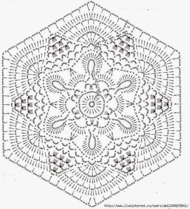 Шестиугольный мотив крючком - Онлайн-журнал о вязании и кулинарии