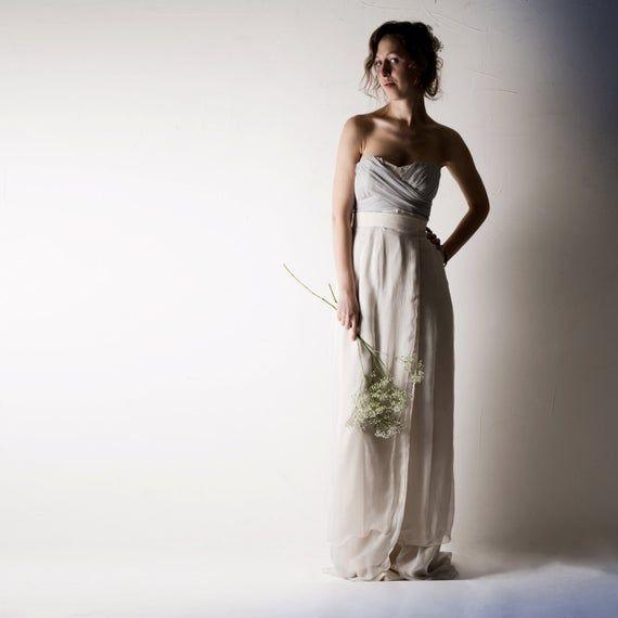 Wedding dress, Two piece wedding dress, Bohemian Wedding dress, Hippie wedding dress, Bridal separat #grecianweddingdresses