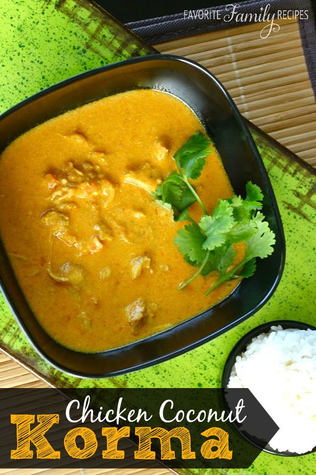 This chicken coconut korma is a favorite at our house if you have if you have never attempted indian food this is a good one to start with softened an onion then cooked chicken then removed all from skillet and made forumfinder Choice Image