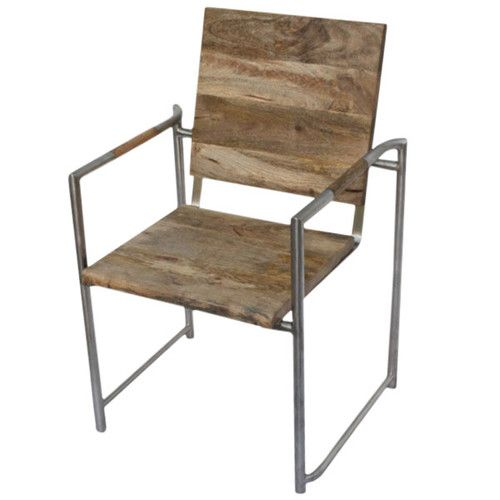 DK Living Wood And Metal Arm Chair