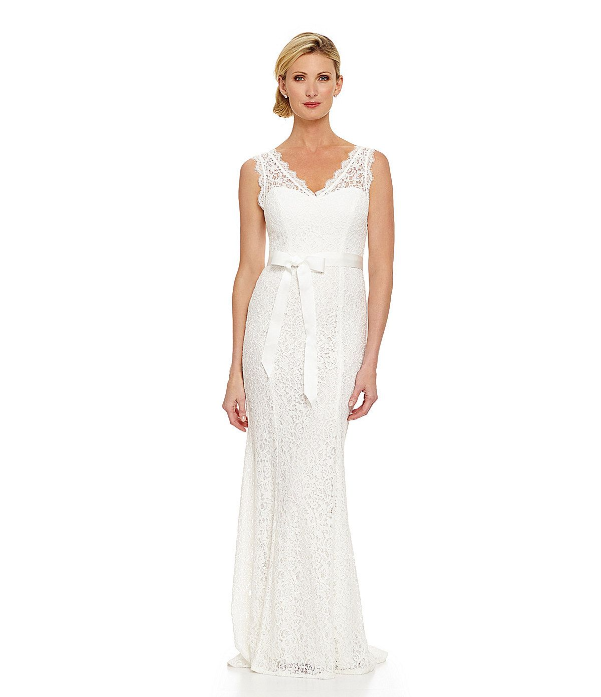 $220 at Dillard\'s. Adrianna Papell Sleeveless Lace Gown | Dillards ...