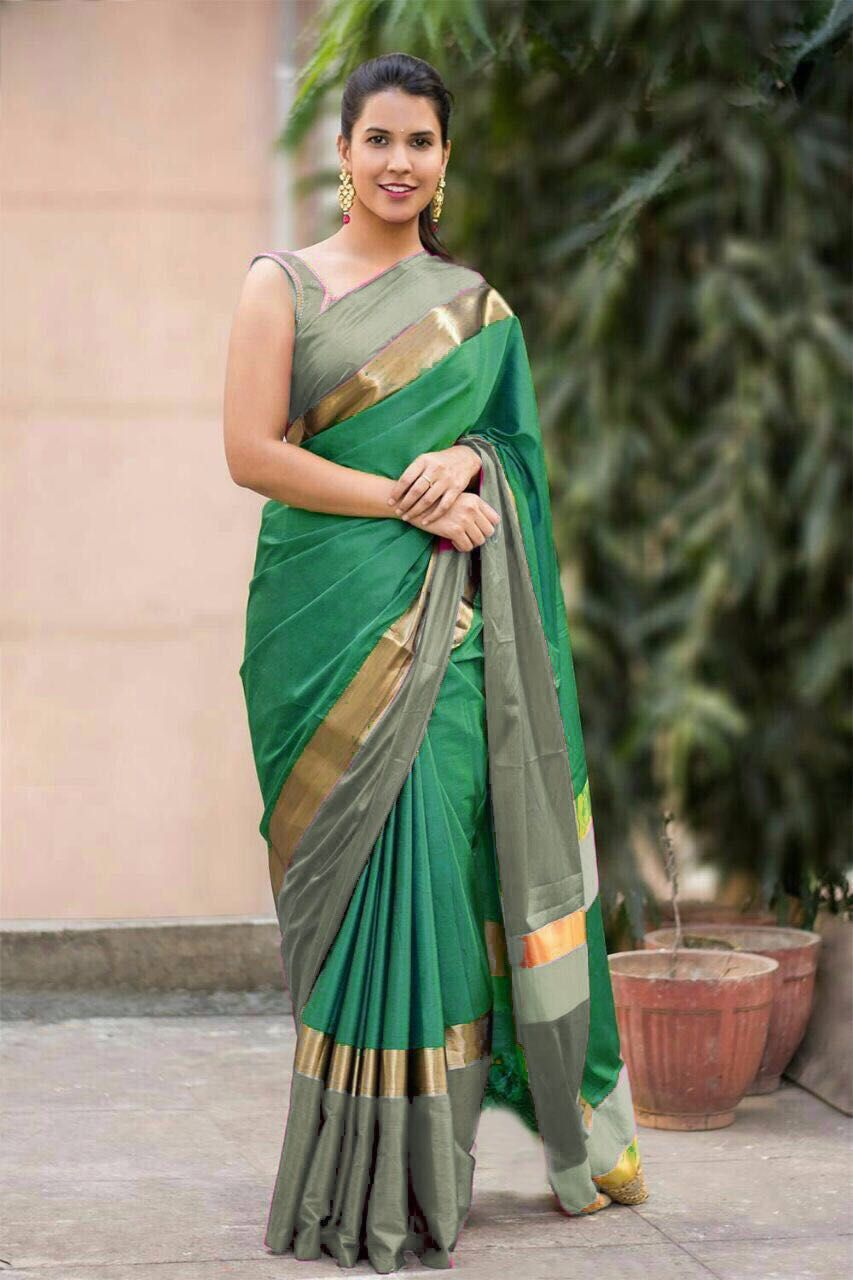 00516636bdf406 Aura Angi Pure Cotton Silk Saree ( 10 pc ) | Indian style | Silk ...