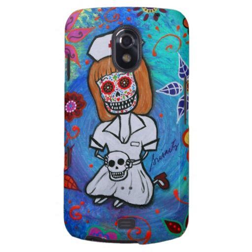 Dia de los Muertos Sweet Nurse Galaxy Nexus Cases