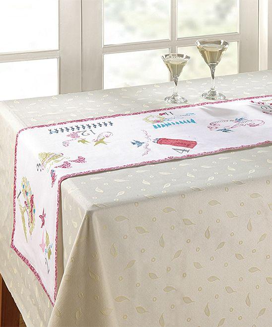 Peking Handicraft 12 Days Of Christmas Table Runner Zulily Christmas Table Runner Christmas Table 12 Days Of Christmas