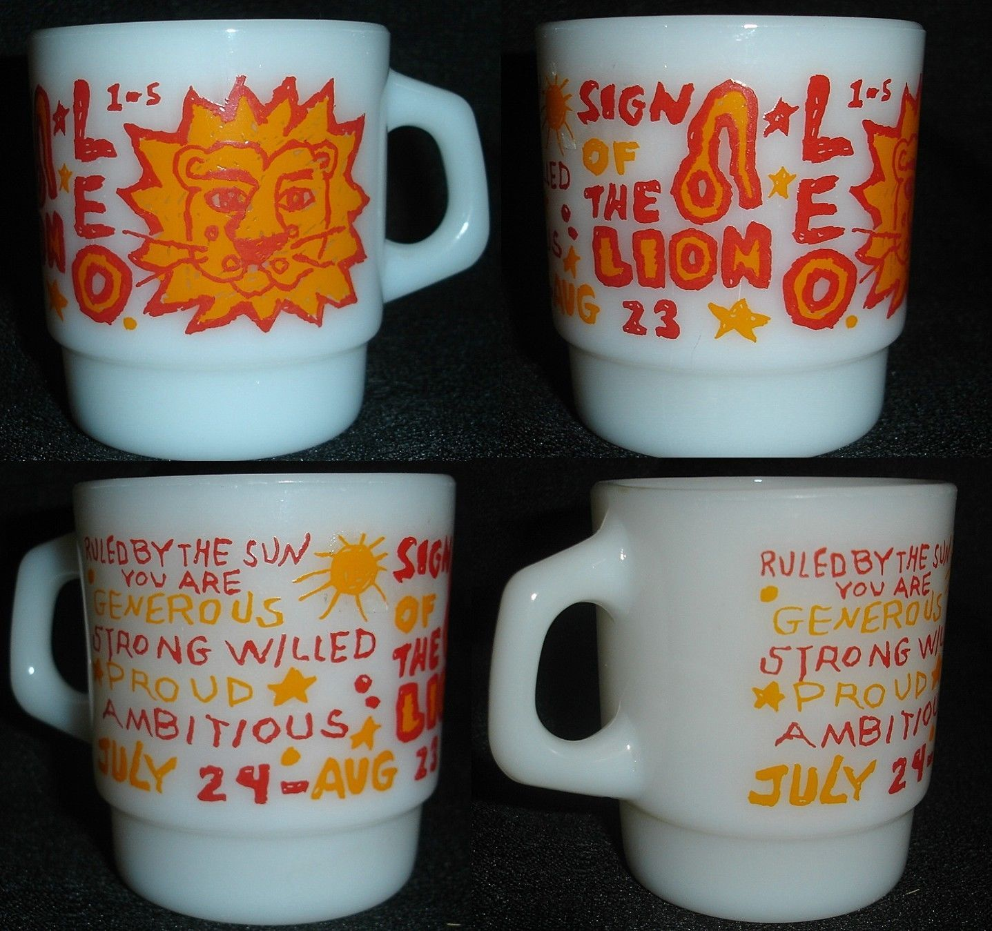 Rare King Hocking Vintage Anchor Lion Sign Astrology The Leo Fire zGqUpSVM