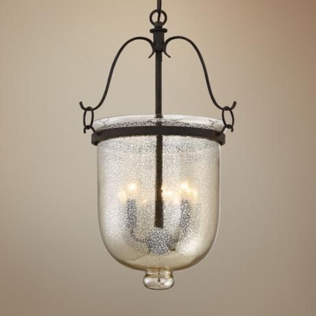 quoizel burgess 15 w rustic black 3 light foyer pendant foyers