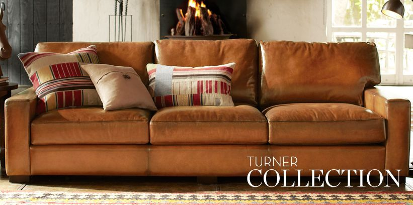 High Back Leather Sofas & Turner Sofas | Pottery Barn ...