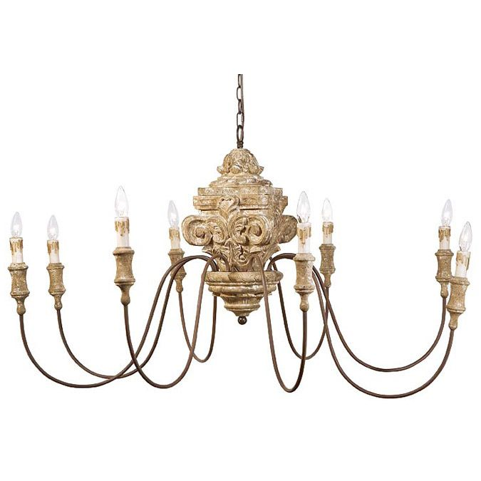 Regina Andrew Lighting Antique Wood Carved Chandelier Laylagrayce