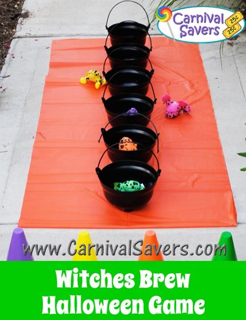 Witches brew halloween game for kids easy set up and fun Homemade games for adults