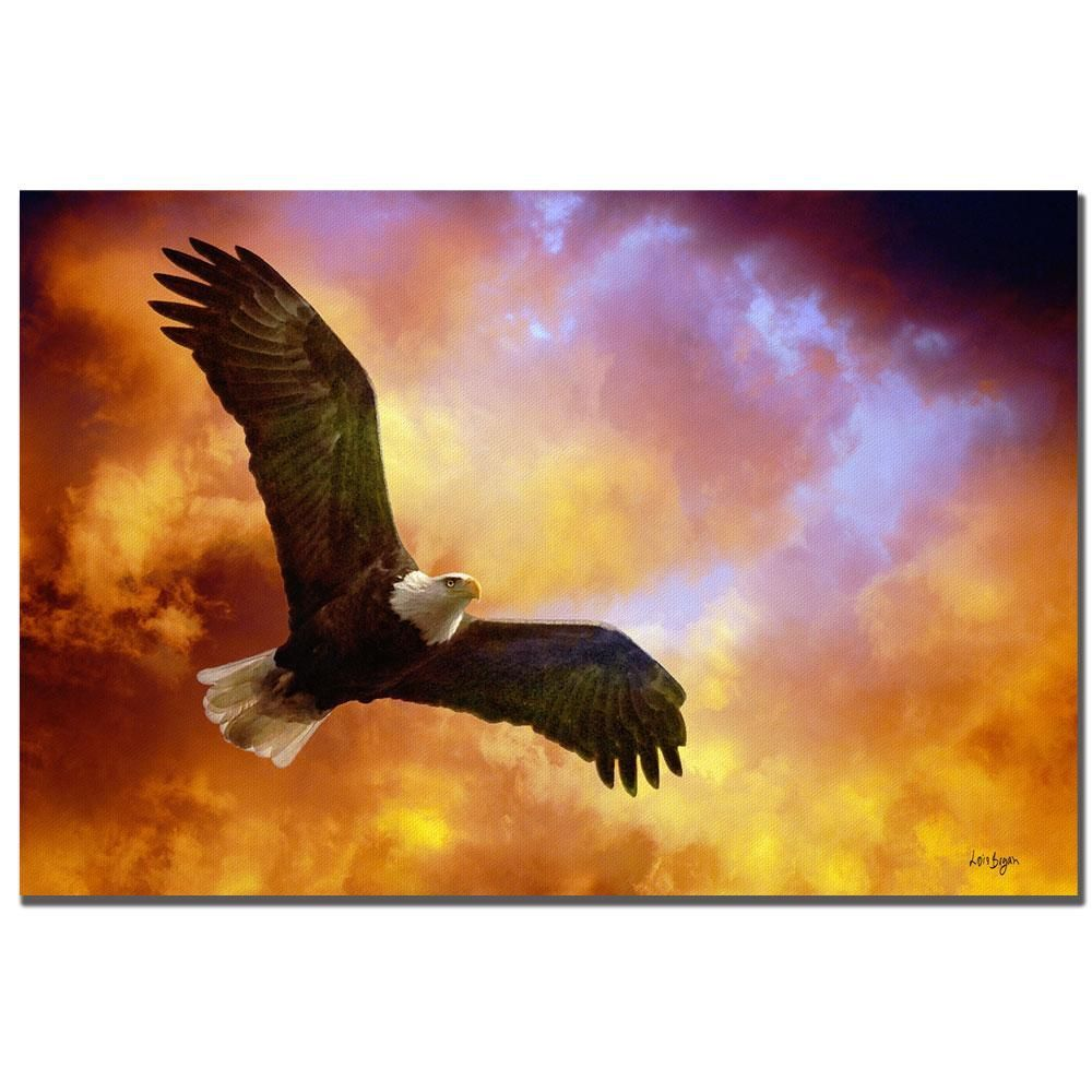 Lois Bryan 'Flight of the Eagle' Art, Blue