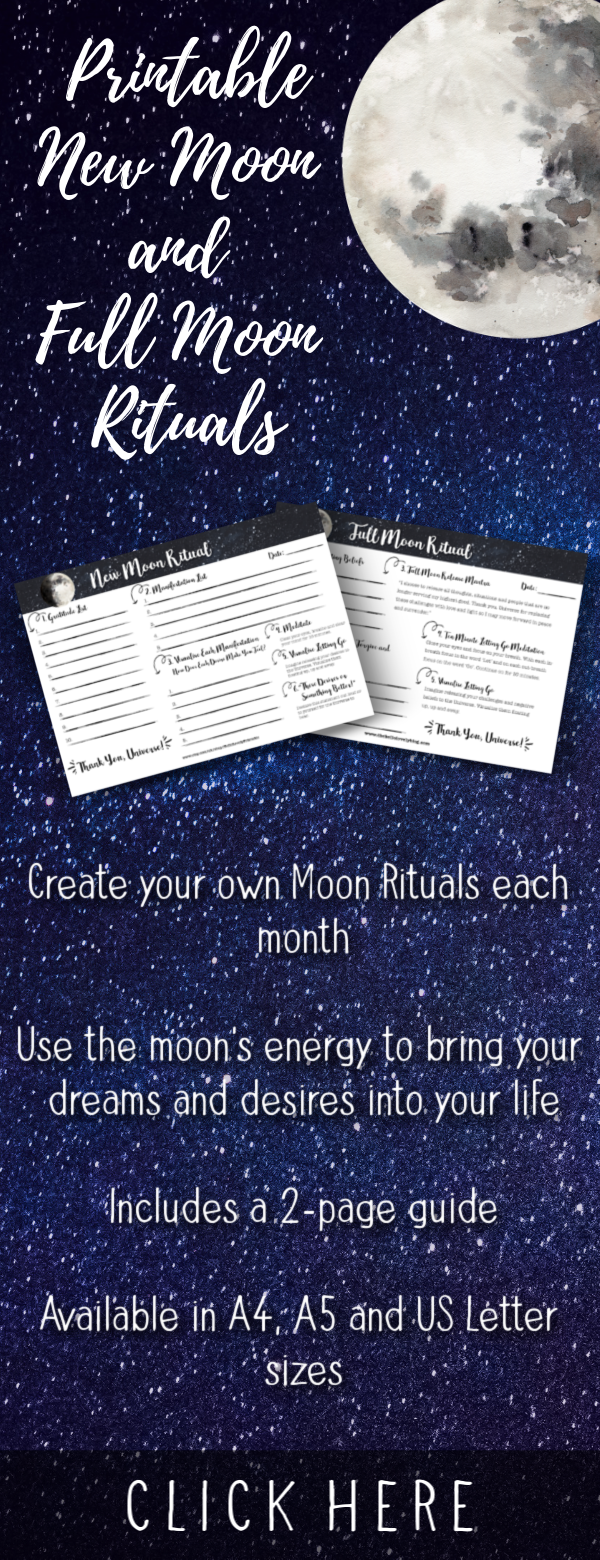 Printable New Moon & Full Moon Rituals • Moon Manifesting • Law of Attraction Planner • Moon Magic • Lunar Cycle #newmoonritual