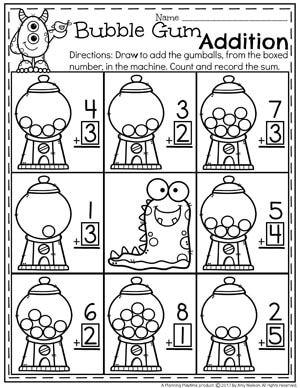 addition worksheets addition worksheets worksheets and kindergarten. Black Bedroom Furniture Sets. Home Design Ideas