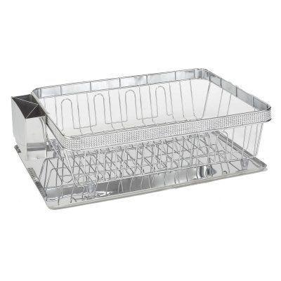 Simplify Dish Rack With Tray 40681da9a83846ebb23bfa533a5c2eef