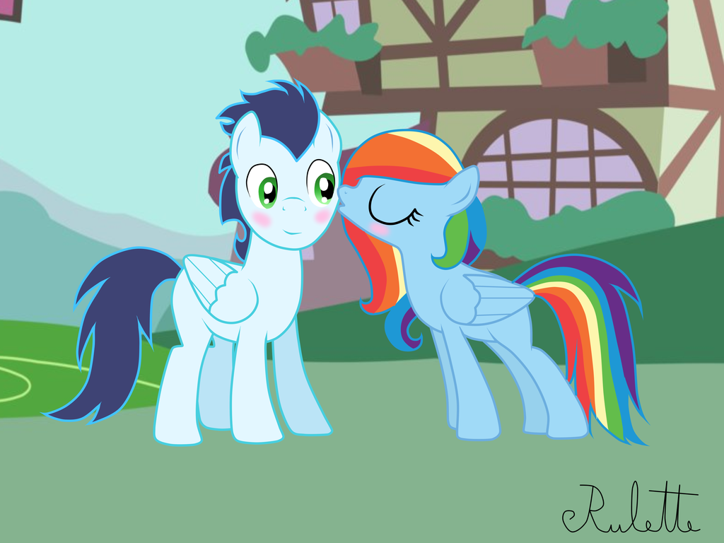 MLP: Soarin and Rainbow Dash by Rulette on DeviantArt | My ...
