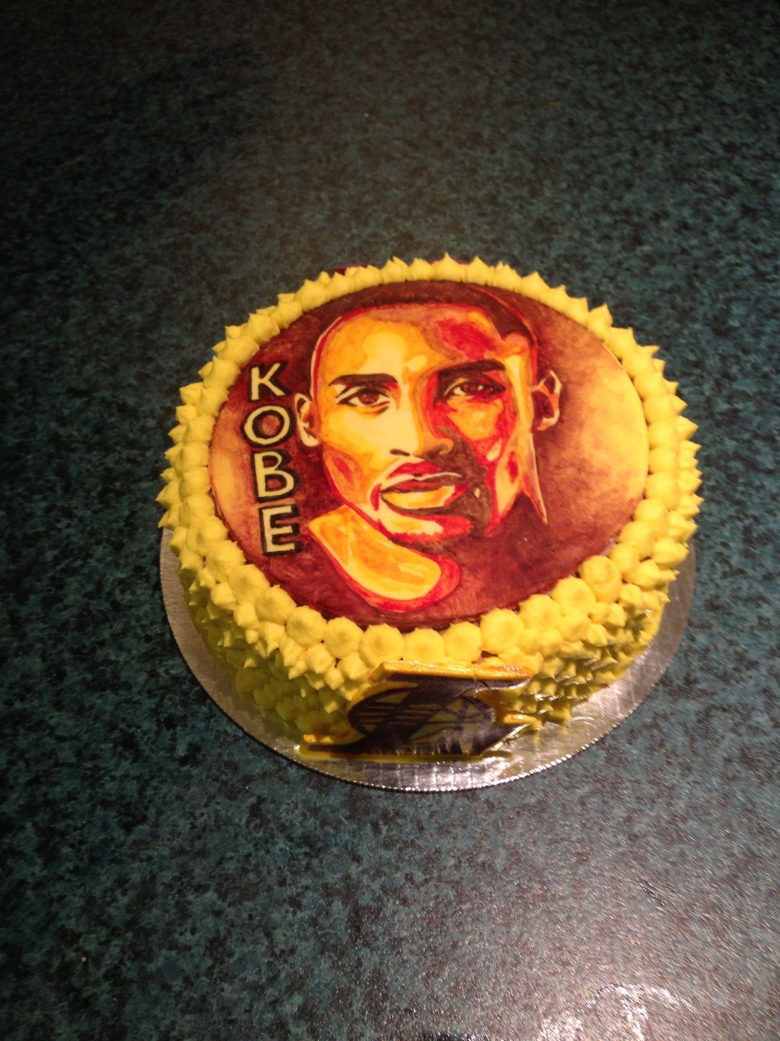 Kobe Bryant cake Cake, Kobe, Kobe bryant