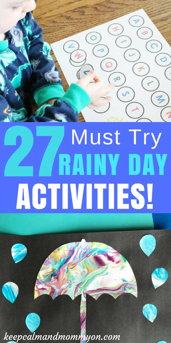 27 Rainy Day Activities For Kids! | Rainy day activities ...