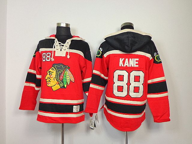 Chicago Blackhawks 88 Patrick KANE Lace-Up Jersey Hooded Sweatshirt ... 010979358