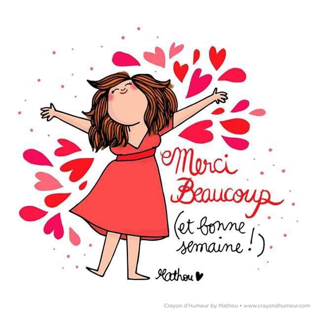 Merci Beaucoup Crayondhumeur Com Images Et Messages Pinterest