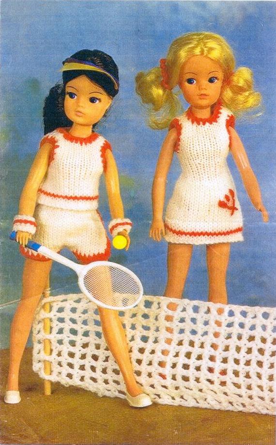 Pdf Vintage Knitting Pattern For Sindybarbie Doll Great Tennis