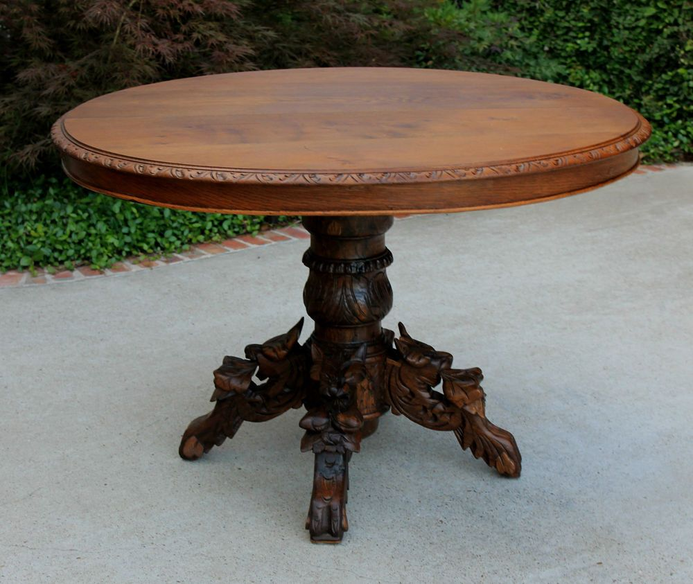 Antique Round Kitchen Table Antique French Oak Black Forest Oval Hunt Dining Table Game Table